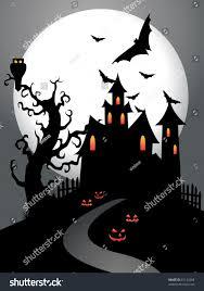 creepy halloween background textures scary halloween background moon old tree stock illustration