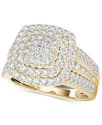 cluster rings diamond cluster ring 1 ct t w in 14k gold or white gold