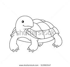 black white cute cartoon turtle coloring stock vector 513993547