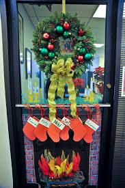 impressive christmas office door designs office christmas door