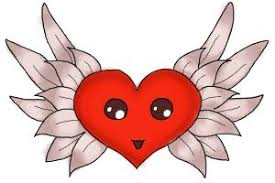 how to draw a broken heart with wings drawingnow