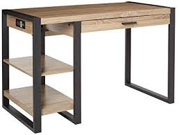 walker edison urban blend computer desk amazon com we furniture 48 industrial wood storage computer desk