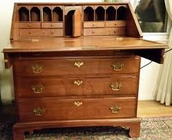 antique drop front desk antique walnut drop front flip top desk collectors weekly