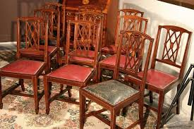 edwardian inlaid solid mahogany dining room chairs federal or