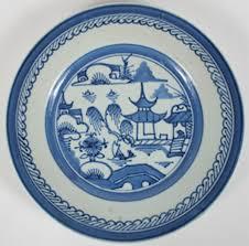 canton porcelain eighteen porcelain plates classic blue and white canton