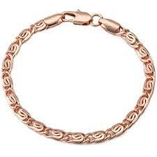 ladies gold chain bracelet images Trendsmax 5mm womens chain ladies snail link rose gold jpg