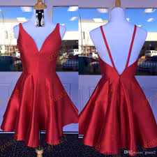 semi formal dress semi formal dresses 2017 with v neck and back real picture