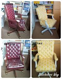 reupholstering an office chair diy reupholstered office chair