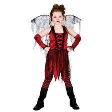 vampiress girls halloween fancy dress costume kids vampire scary