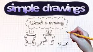 simple drawings 1 how to draw good morning youtube
