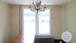 dining room renovation plaster repair and antique chandelier we no longer have vented walls
