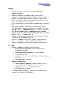 resume format for experienced software testing engineer 1 year experience resume in java j2ee dalarcon com software testing resume for 1 year experience free resume