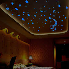 aliexpress com buy kids bedroom fluorescent glow dark stars wall
