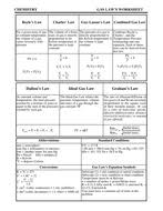 gas laws worksheet with answer by kunletosin246 teaching