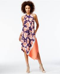 rachel rachel roy floral print handkerchief dress lyst