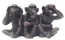 three wise monkeys ebay