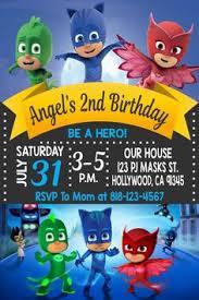 free pj masks birthday party printable files invitations kids