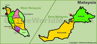 Map States by Malaysia States Map