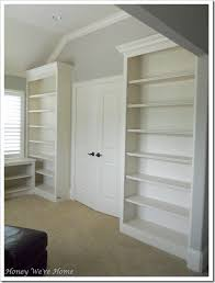 Bookcase Backdrop Remodelaholic Spruce Up Your Built In Bookshelves With A Fabric