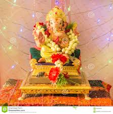 Home Ganpati Decoration Decoration For Puja At Home Simple Diwali Decoration Ideas For
