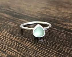 sea glass engagement rings sea glass ring etsy