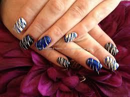 eye candy nails u0026 training acrylic nails with zebra print nail