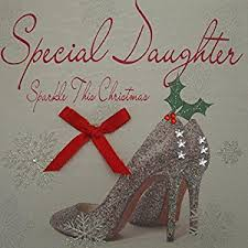 white cotton cards special daughter sparkle this christmas