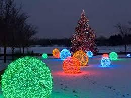 exterior lights on trees