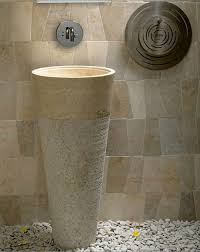 Onyx Pedestal Sink A Luxury Marble Stone Bathroom Pedestal Sink Made From A White