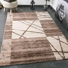 designer teppich moderner designer teppich in braun und beige mit kachel optik und