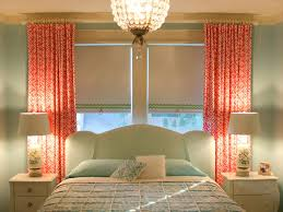 Shabby Chic Window Treatment Ideas by Light Green Room And Bed Color Mixed With Pendant Lamp And Red
