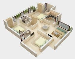 25 More 2 Bedroom 3d Floor Plans 4 Charming Inspiration Simple Special Floor Plans