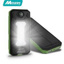 portable outdoor sports lighting 12000mah solar power bank dual usb outdoor sports external battery