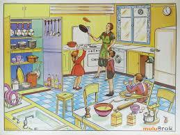 affiche cuisine vintage ancienne affiche scolaire editions mdi recto n 6 a la cuisine