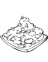 roasted chicken with chicken drumstick coloring pages fried