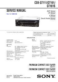 sony cdx l350 wiring diagram sony portable cd player sony cdx