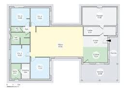 plan maison contemporaine plain pied 4 chambres plan maison plain pied en h