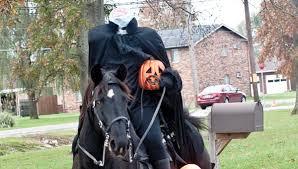 headless horseman costume students get visit from headless horseman the tribune