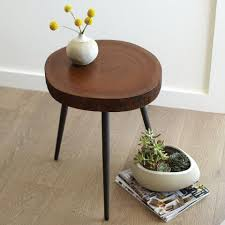 wood slice end table wood slice accent table world market