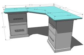 build a corner desk ana white office corner desktop plans diy projects