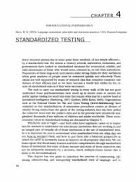 standardized testing chapter 4 brown standardized tests test