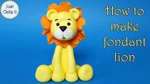 lion cake topper how to make fondant lion jak zrobić figurkę lwa z masy cukrowej