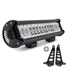 Jeep Wrangler Led Light Bar by Lumen Jeep Wrangler 2007 2017 Hood Mounted 14 5