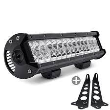jeep jk led light bar lumen jeep wrangler 2007 2017 hood mounted 14 5