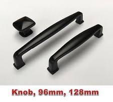 Cabinet Handles EBay - Black kitchen cabinet handles