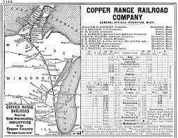 Michigan Railroad Map by The Copper Range Railroad