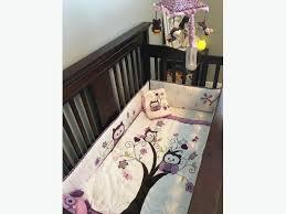 Crib Bedding Calgary Plum Owl Crib Bedding Set Rural