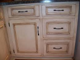 White With Brown Glaze Kitchen by Antique White Cabinets With Glaze