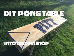 fold up beer pong table diy foldable beer pong table youtube