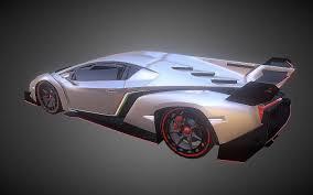 Lamborghini Veneno Exterior - 3d model lamborghini veneno dae obj 3ds fbx 3d printable stl vr